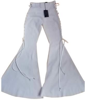 FENTY PUMA by Rihanna Beige Cotton Trousers for Women