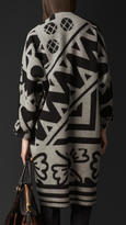 Burberry Graphic Jacquard Blanket Coat
