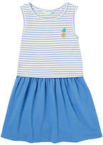 John Lewis Girls' Stripe Jersey Dress, Dutch Blue
