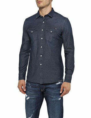 Replay Men's M4001 .000.39b 407 Denim Shirt
