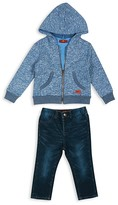 7 For All Mankind Boys' French Terry Hoodie, Slubbed Tee & Straight Leg Jeans Set - Sizes 2T-4T