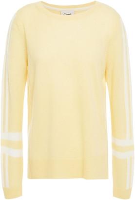 Charli Camomile Striped Cashmere Sweater