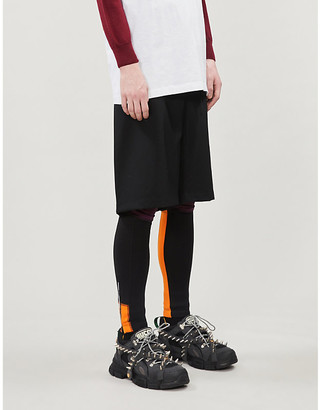 N. Logo-print branded-waist stretch-jersey leggings