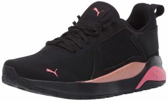 Puma Women's Anzarun Sneaker Black Black-Copper Rose Numeric_6_Point_5
