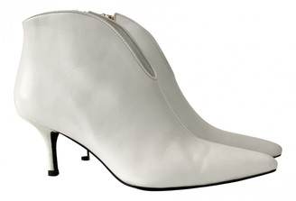 Anine Bing White Leather Boots