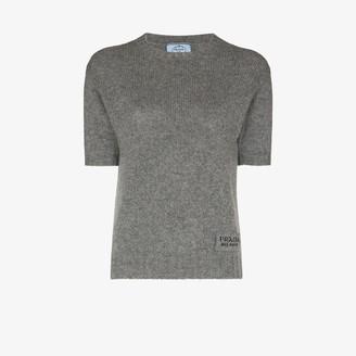 Prada Knitted Logo Patch Sweater