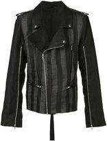 Ann Demeulemeester Crawford biker jacket - men - Linen/Flax/Polyester - S