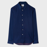 Paul Smith Men's Slim-Fit Indigo And Pink Pin-Dot Shirt