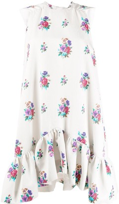 MSGM floral shift dress