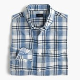 J.Crew End-on-end cotton-linen shirt in plaid