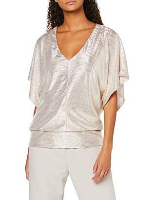 New Look Women's GO Shimmer Batwing TEE T-Shirt,(Size:)