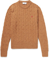 Ami - Cable-knit Mélange Wool Sweater