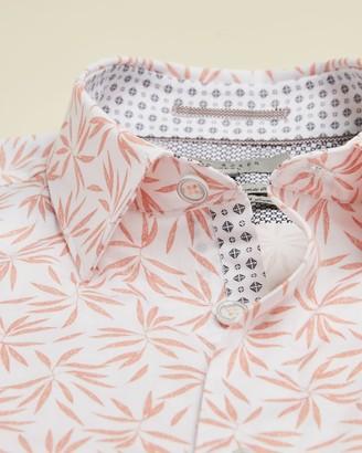 Ted Baker Short Sleeved Leaf Print Shirt