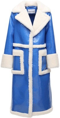 Stand Studio Aubrey Faux Shearling Coat