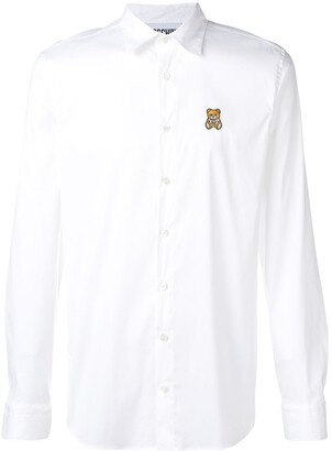 Moschino bear embroidered shirt