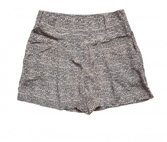 Zimmermann Grey Silk Shorts for Women
