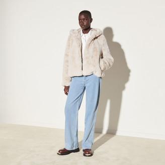 Sandro Short Faux Fur Coat
