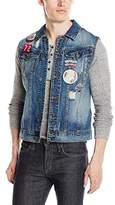 Buffalo David Bitton Men's Joey Denim Fashion Vest