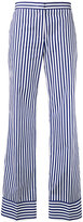 MSGM striped straight trousers - women - Cotton - 42