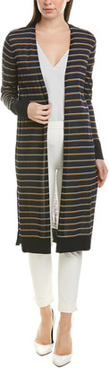 Lafayette 148 New York Striped Long Cardigan