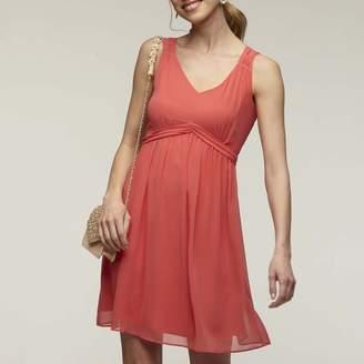 Naf Naf Pleated Short Sleeveless Dress