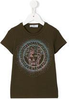 Young Versace - studded Medusa logo T-shirt - kids - Cotton/Spandex/Elastane - 5 yrs