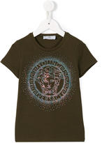 Young Versace studded Medusa logo T-shirt