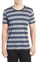 Daniel Buchler Stripe Pima Cotton & Modal Crewneck T-Shirt