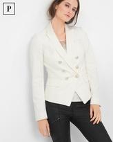 White House Black Market Double-Breasted Jacquard Jacket