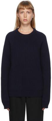 Maison Margiela Navy Gauge Sweater