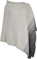 Eileen Fisher Grey Asymmetric Alpaca Poncho