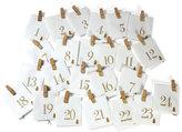 Advent Calendar with Pegs
