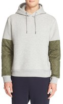 Moncler Men's Colorblock Quilted Sleeve Hoodie