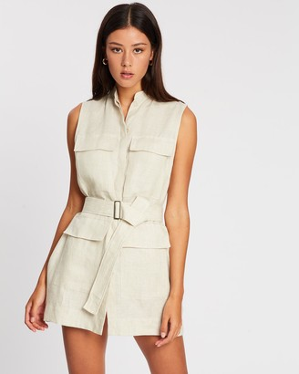 BONDI BORN Utility Sleeveless Shift Dress