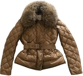 Moncler Fur Hood Gold Fox Coats
