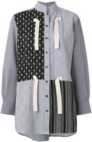 J.W.Anderson multi-print high neck shirt - women - Cotton/Linen/Flax - 8
