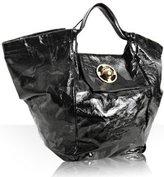 black crushed patent 'Paza' x-large tote