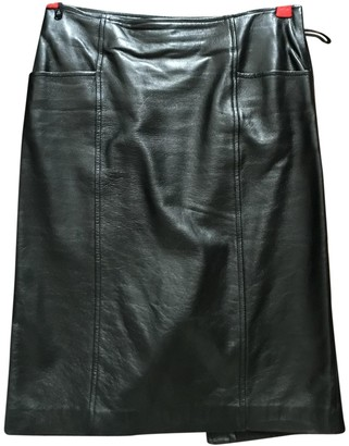 Gucci Black Leather Skirts