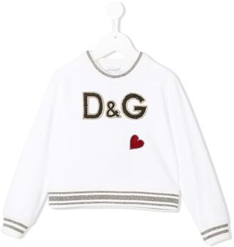 Dolce & Gabbana Heart Logo Patch Sweatshirt
