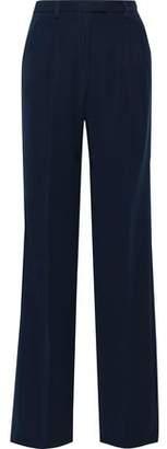 Iris & Ink Sylvi Washed-crepe Wide-leg Pants