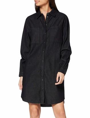 Pieces Women's Pcnaoli Ls Denim Shirt Dress Bi-d2d