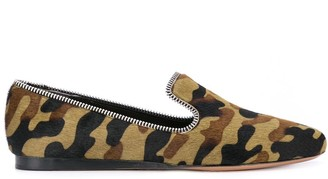 Veronica Beard Griffin camouflage loafers