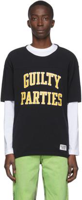 Wacko Maria Black Guilty Parties Football T-Shirt