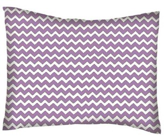 SheetWorld Twin Pillow Case - Percale Pillow Case - Lilac Chevron Zigzag