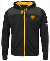 Majestic Men's Pittsburgh Penguins Hashmarks Full-Zip Hooded Jacket