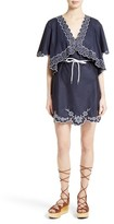 See by Chloe Women's Embroidered Cotton Poplin Dress