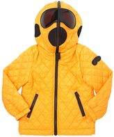 AI Riders On The Storm Ripstop Nylon Hooded Puffer Jacket
