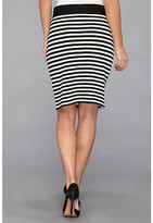 Karen Kane Stripe Pencil Skirt