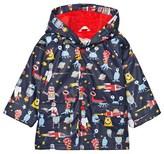 Hatley Navy Space Aliens Print Fleece Lined Raincoat