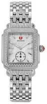 Michele Deco Diamond, Mother-Of-Pearl & Stainless Steel Bracelet Watch